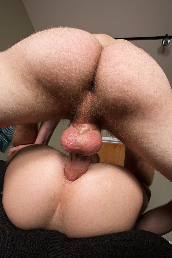 Big and slick bareback dick fucks a perfect tight ass as the