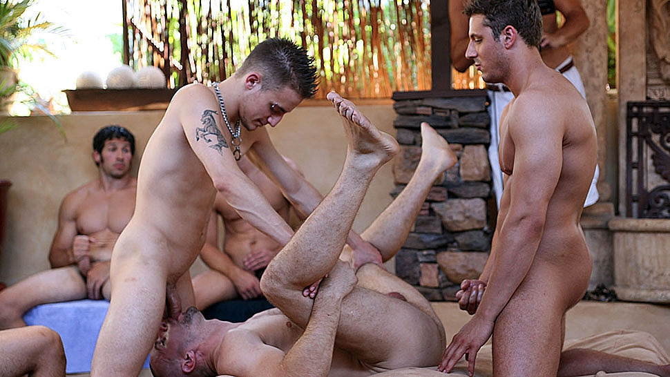 The biggest circle jerk in gay porn history on gotporn