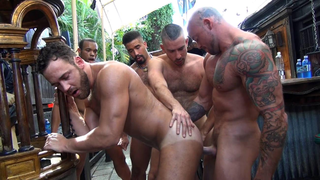 Logan Moore's Gay Bareback Orgy - Part 2 Gay Bareback Club
