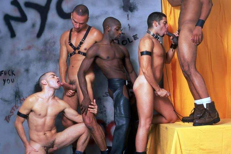 The glory hole heats up as these five studs get into an inte