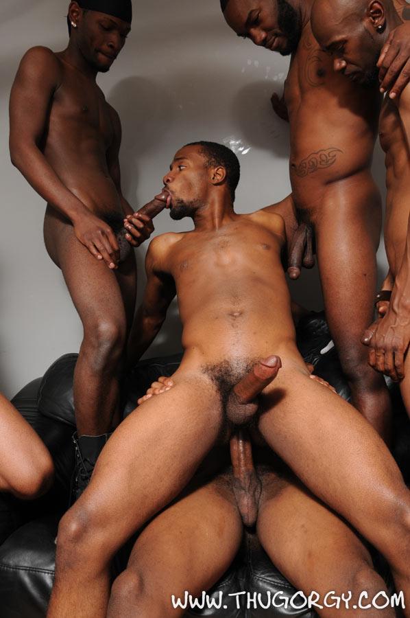 Hot Interracial Gay Gangbang