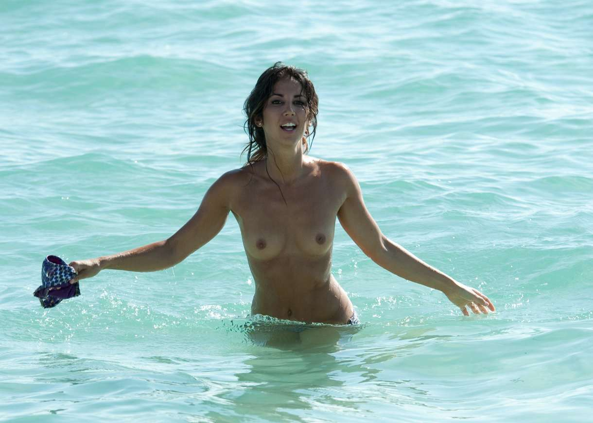 Tattoos for Girls Leilani Dowding going topless on a beach